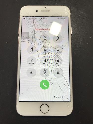 iPhone6s画面割れ交換前