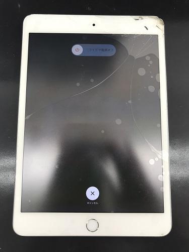 iPadmini3ガラス修理前