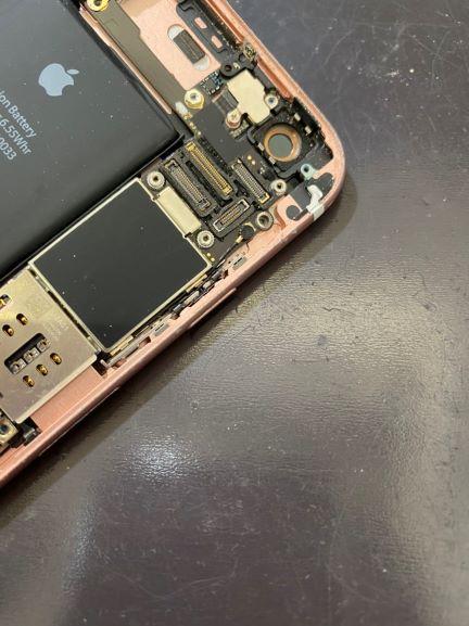 iPhoneボタン陥没修理