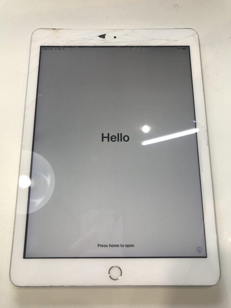 iPad画面修理前