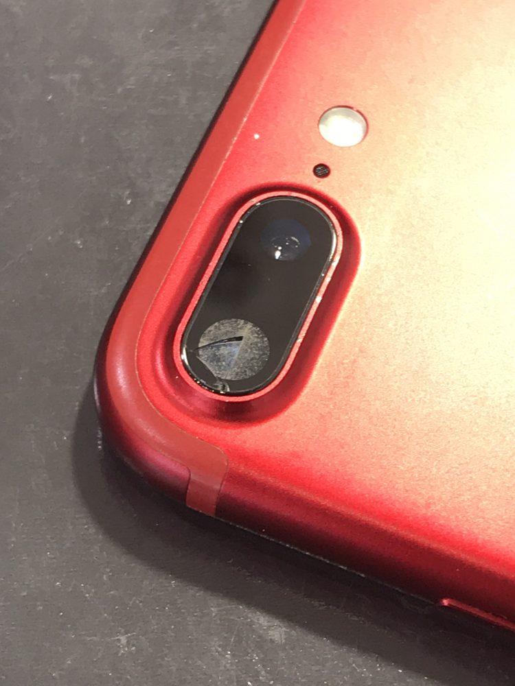 iPhone7Plusカメラレンズ修理前
