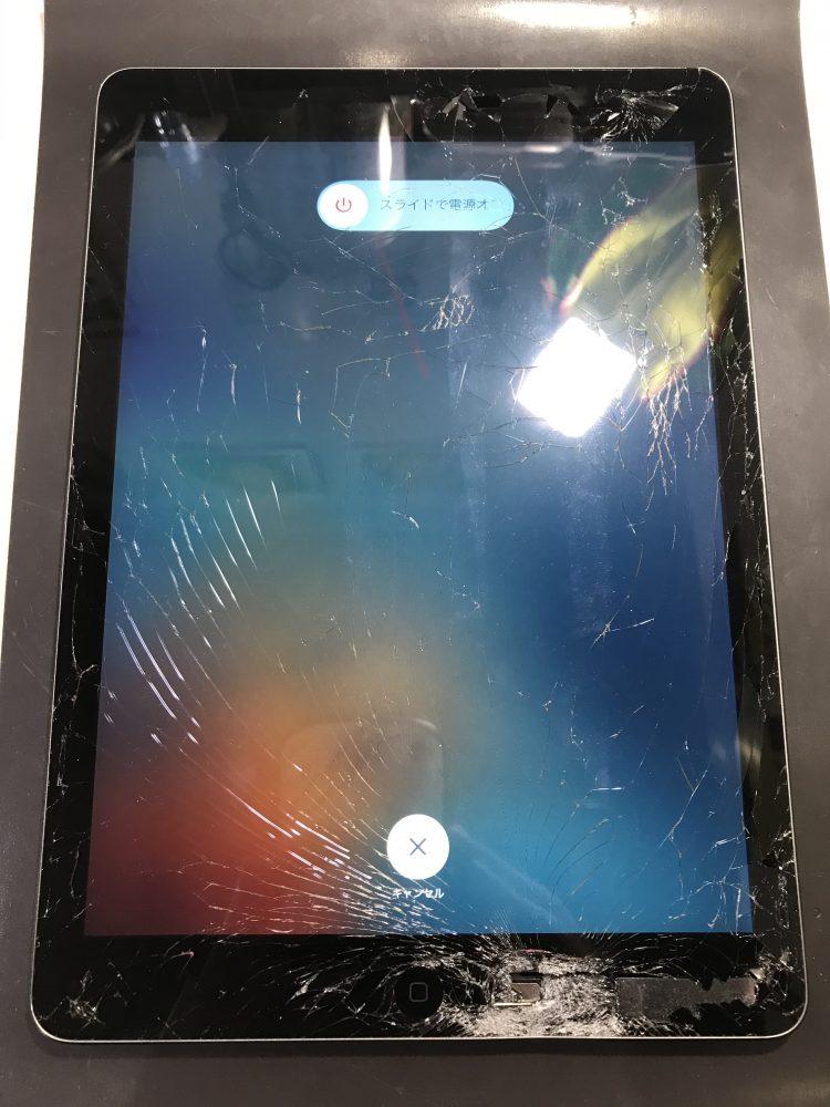 iPadAirガラス交換前