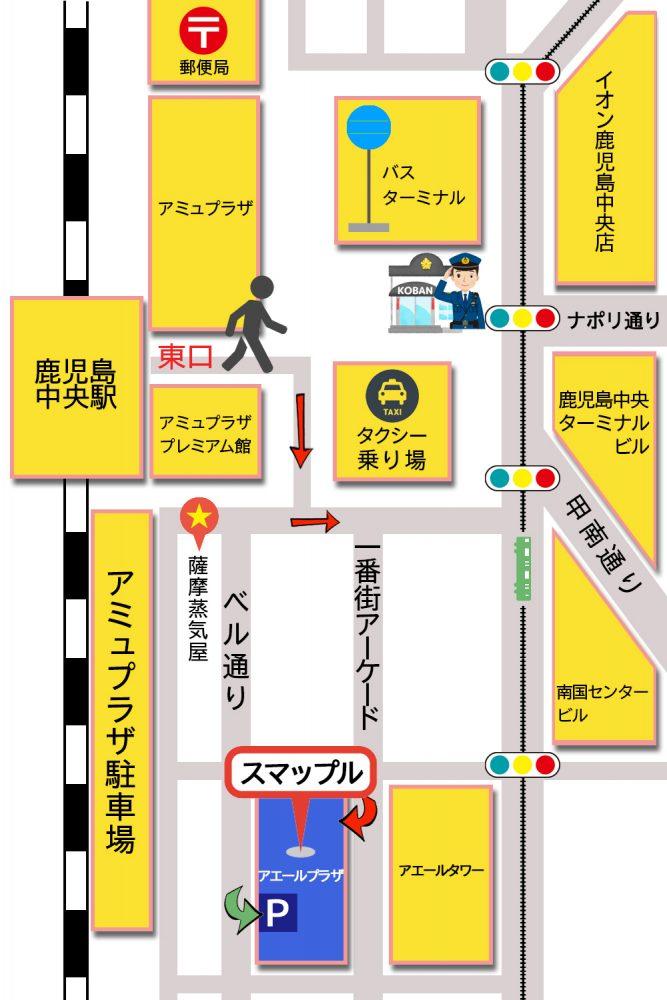 スマップル鹿児島店新地図