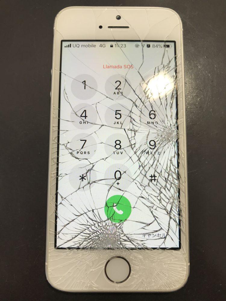 iPhoneSE画面修理前