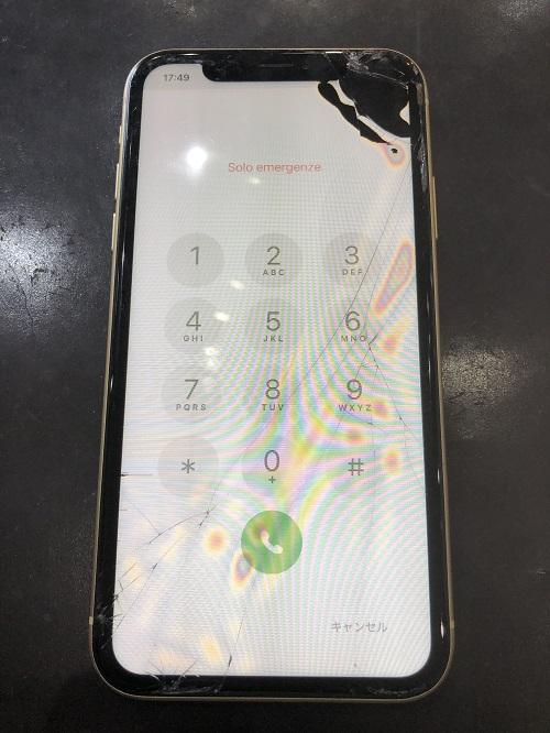 iPhoneXR液晶修理前