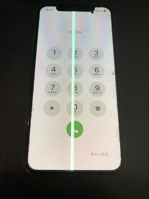iPhoneX重度破損修理前