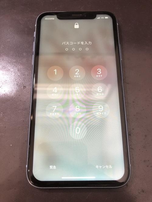 iPhoneXR画面修理後